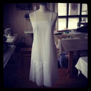 robe coton blancc 1
